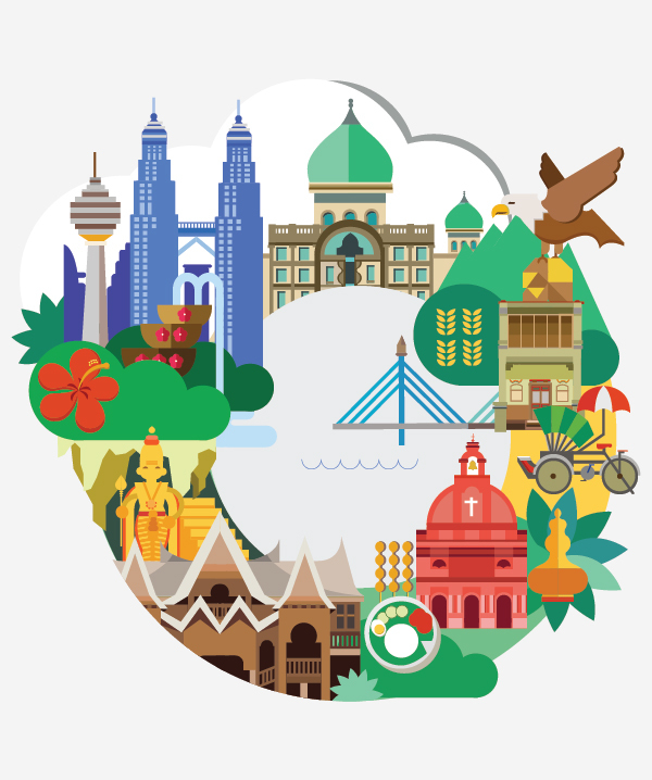 12 malaysian graphic   logo designers with promising portfolios Travel Art Travel Family Vacation Clip Art